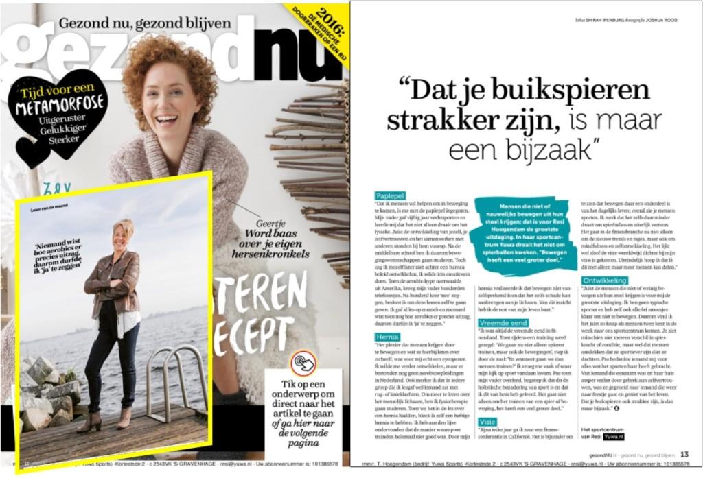 Artikel Gezond Nu jan 2016 met cover